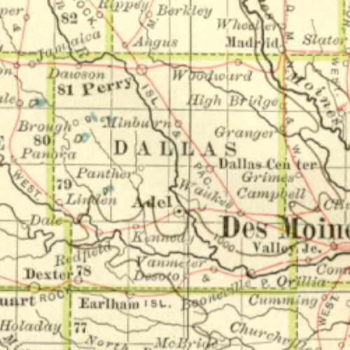 Dallas County Iowa Map | Time Zone Map on