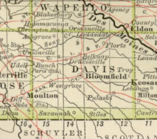 1897 Century Atlas of the State of Iowa