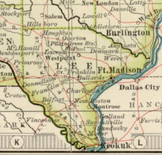 iowa index kossuth county 1897 map index linn county