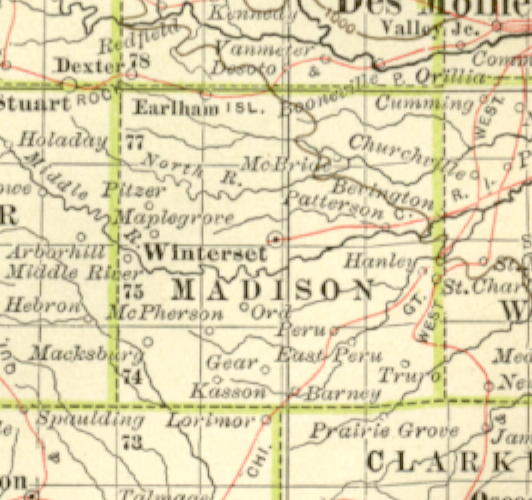 map of madison county iowa 1897 Century Atlas Of The State Of Iowa map of madison county iowa
