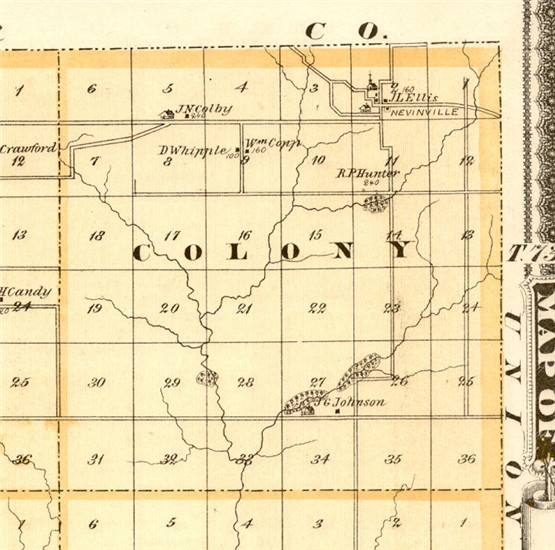 Colony township map 1875