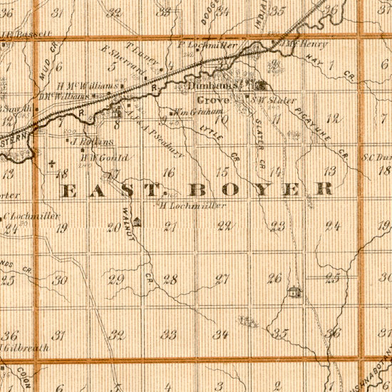 East boyer township map 1875